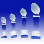 Crystal Football Trophy TH093 (Size: Small)